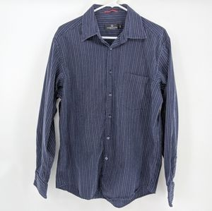 Bugatchi Uomo Button Down Striped Stitch Shirt
